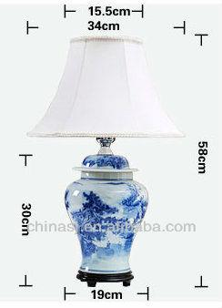 TYLP13 Oriental Hand Painted Ceramic Lamp