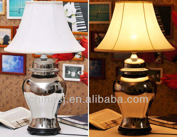 TYLP50 Metal brass silver gold Porcelain Lamp