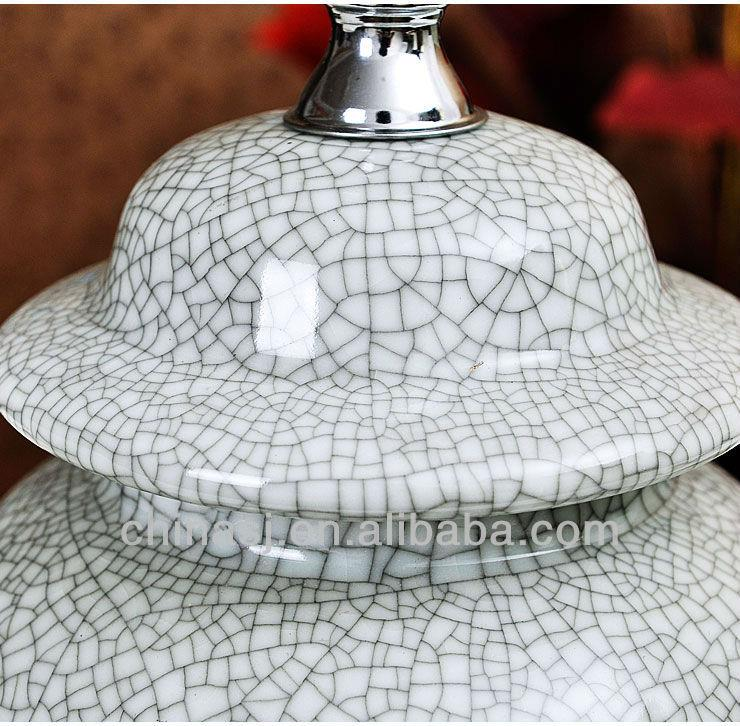 TYLP74 Crackle Glaze Ceramic Table Lamps