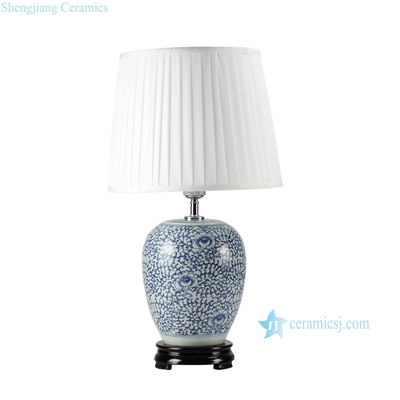 Blue and white handmade  antique jar lamps