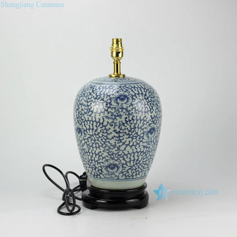 DS42-RYWD Blue and white antique jar lamps