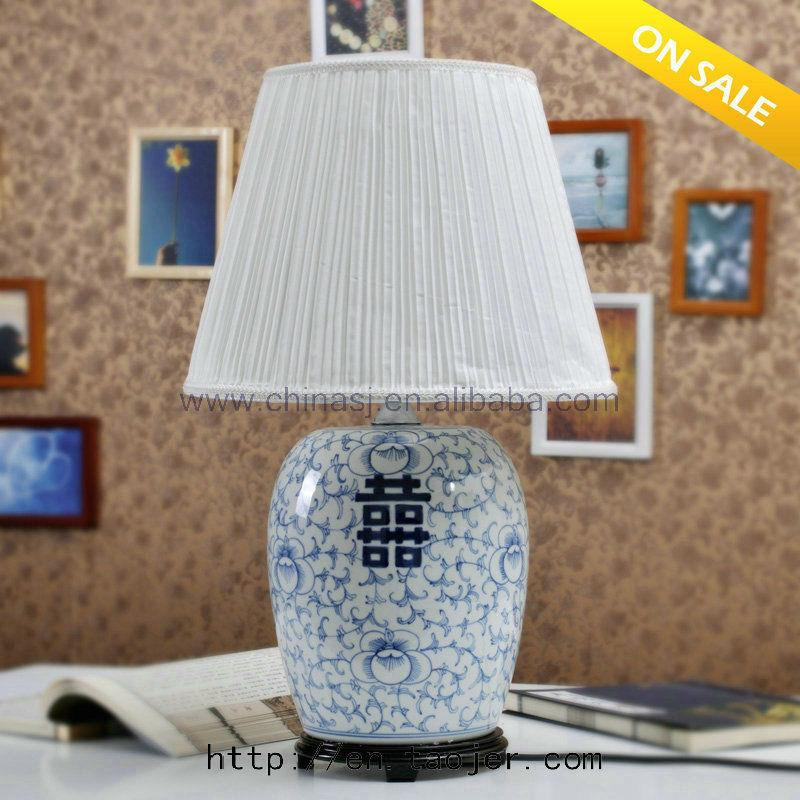Oriental Style Blue and White Ceramic Lamp