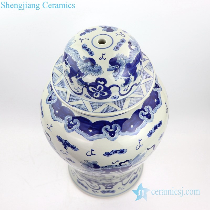 China kylin ceramic table lamp