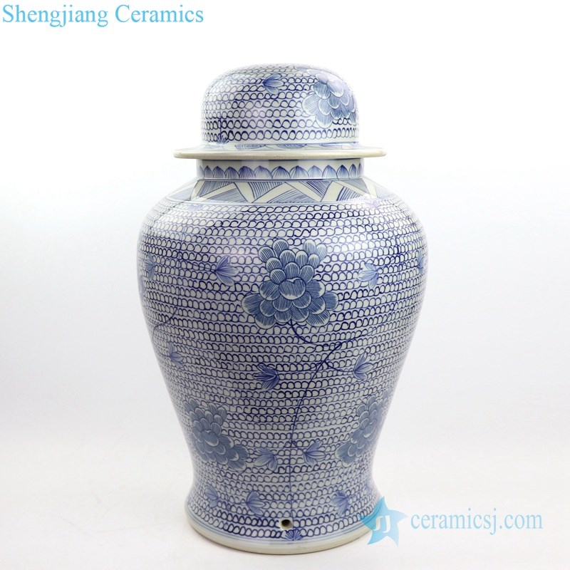 ceramic table lamp with floral design shengjiang company