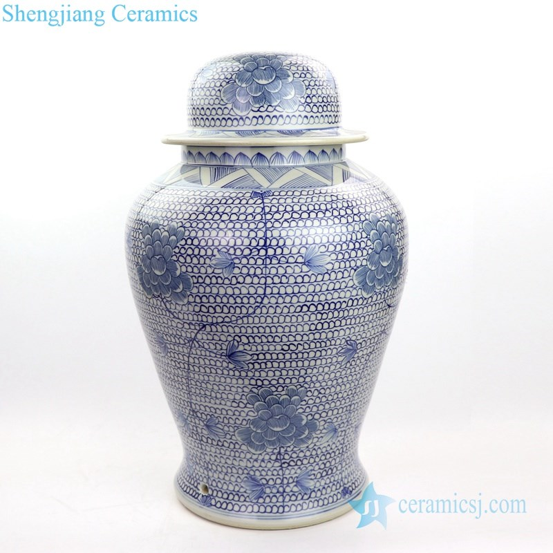 ceramic table lamp with floral design