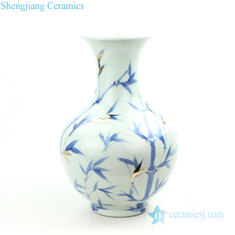 bamboo pattern porcelain lamp body
