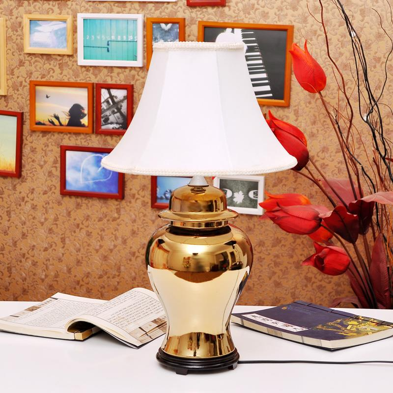 Modern Style Metal brass gold ceramic  Lamp