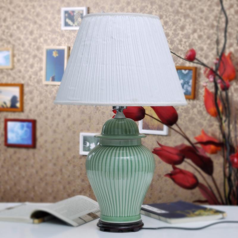 Plain Color Porcelain  Table Lamp