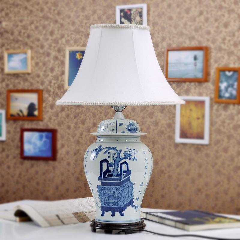 TYLP19China Blue and white Ceramic  Table Lamp