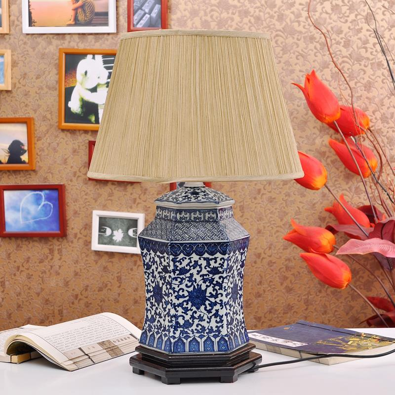 TYLP24China Blue and White Ceramic Lamp