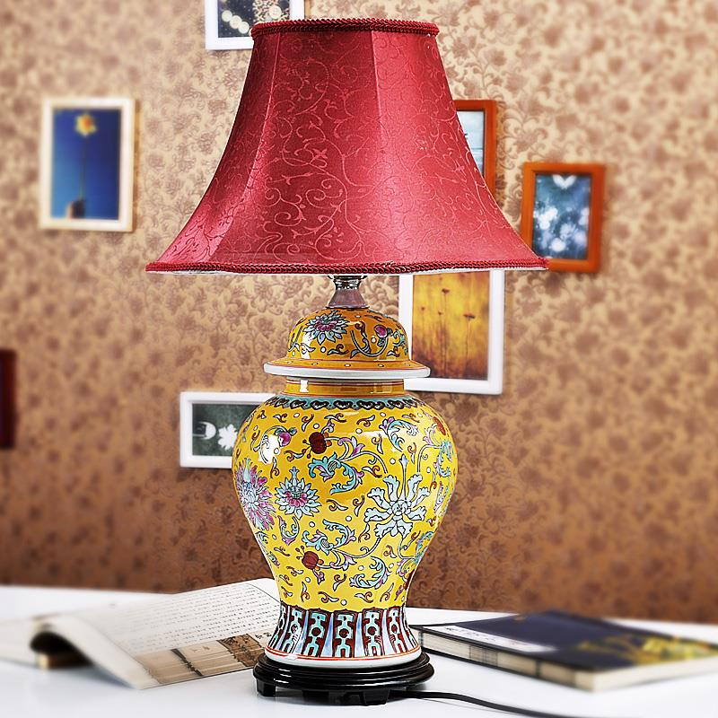 TYLP38China Famille rose Porcelain  Table Lamp