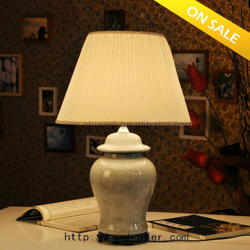 Popular  Crackle Glaze Porcelain Table Lamps