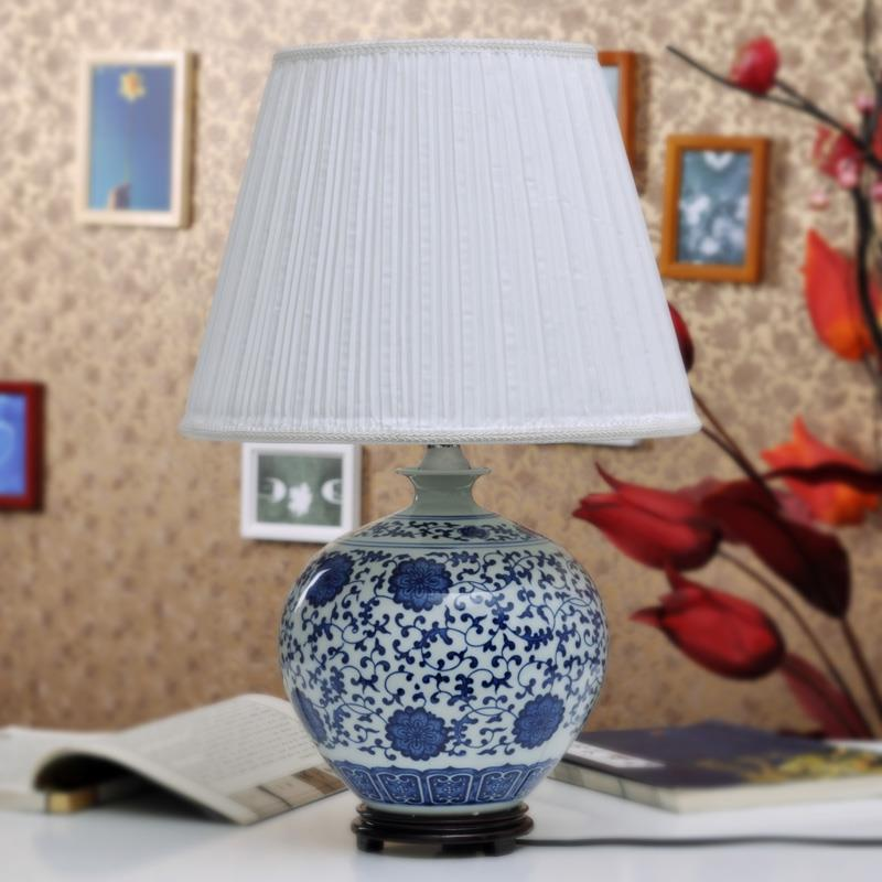 TYLP86Blue And white Table Ceramic Lamp