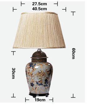 size of Modern style Ginger Jar Table Ceramic  Lamp