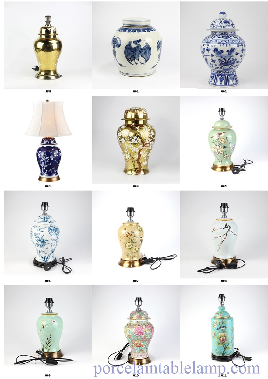 flower pattern table lamp