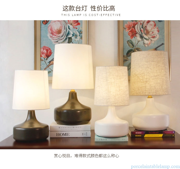 purely manual small living room decorative porcelain table lamp