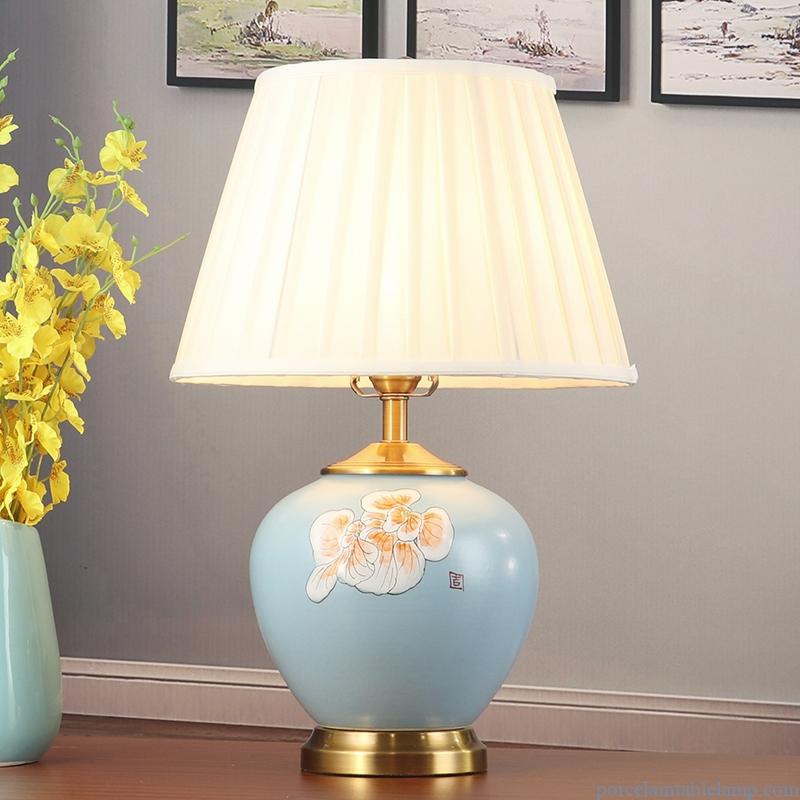 romantic warm light bedroom bedside ceramic table lamp