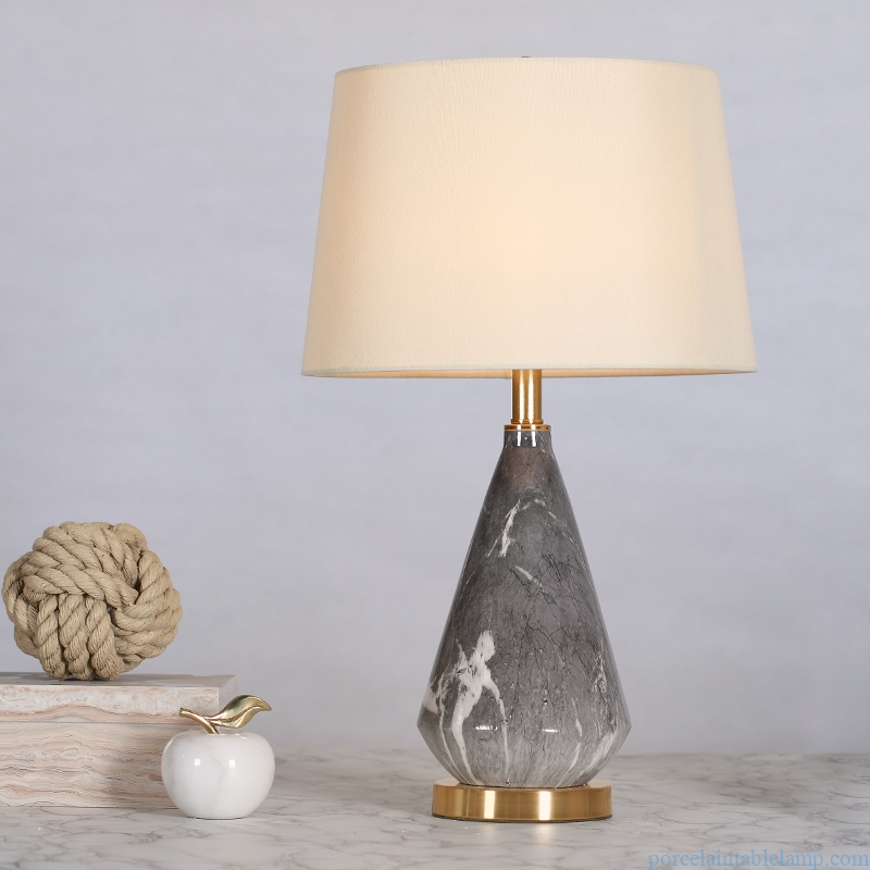 marble pattern room decoration ceramic table lamp